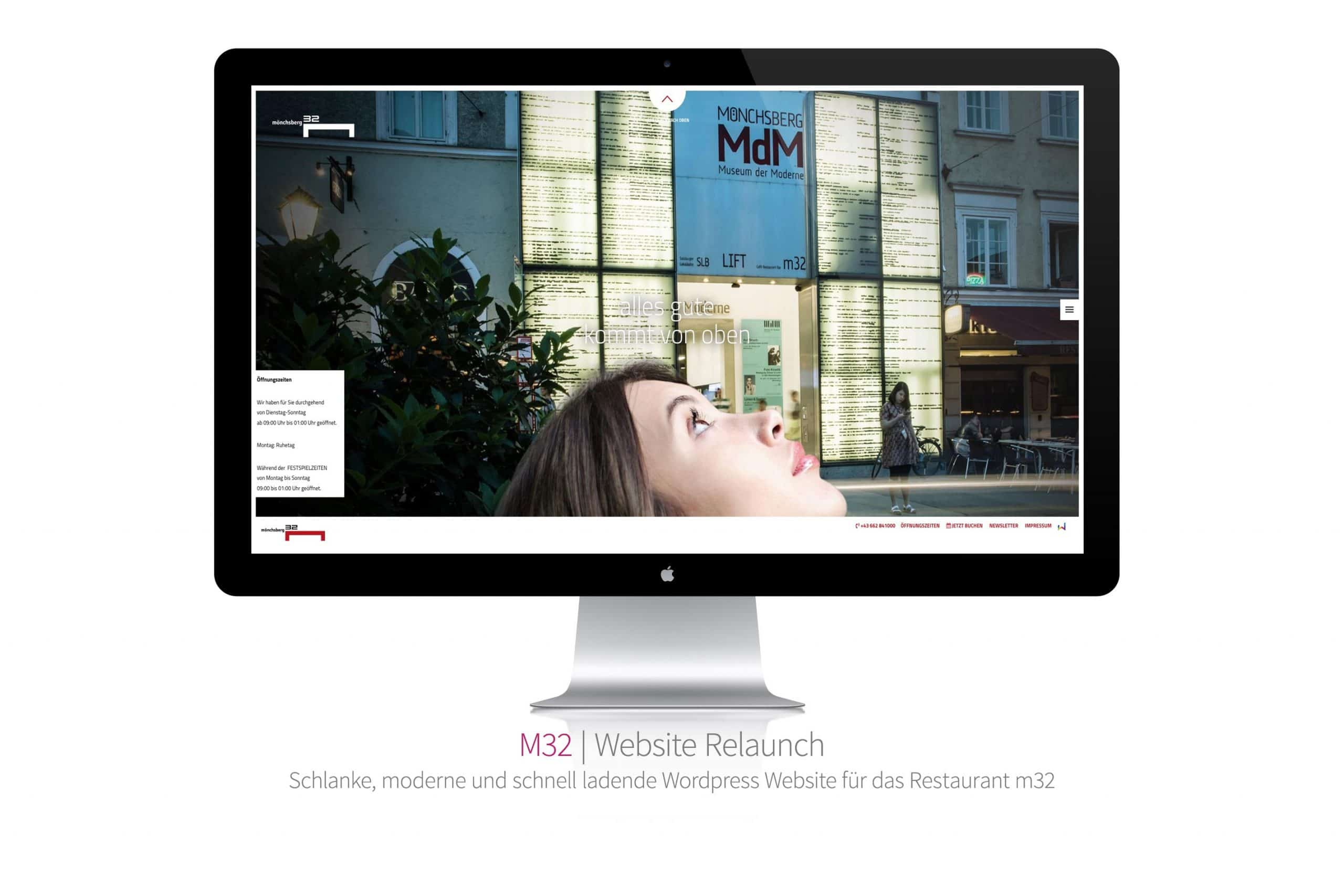 Referenzprojekt: Restaurant M32 Website